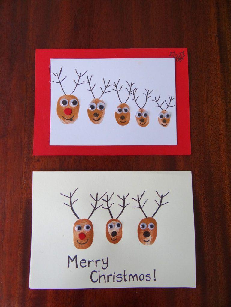 Fingerprint Christmas Cards