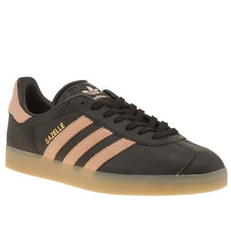 adidas gazelle womens black and pink