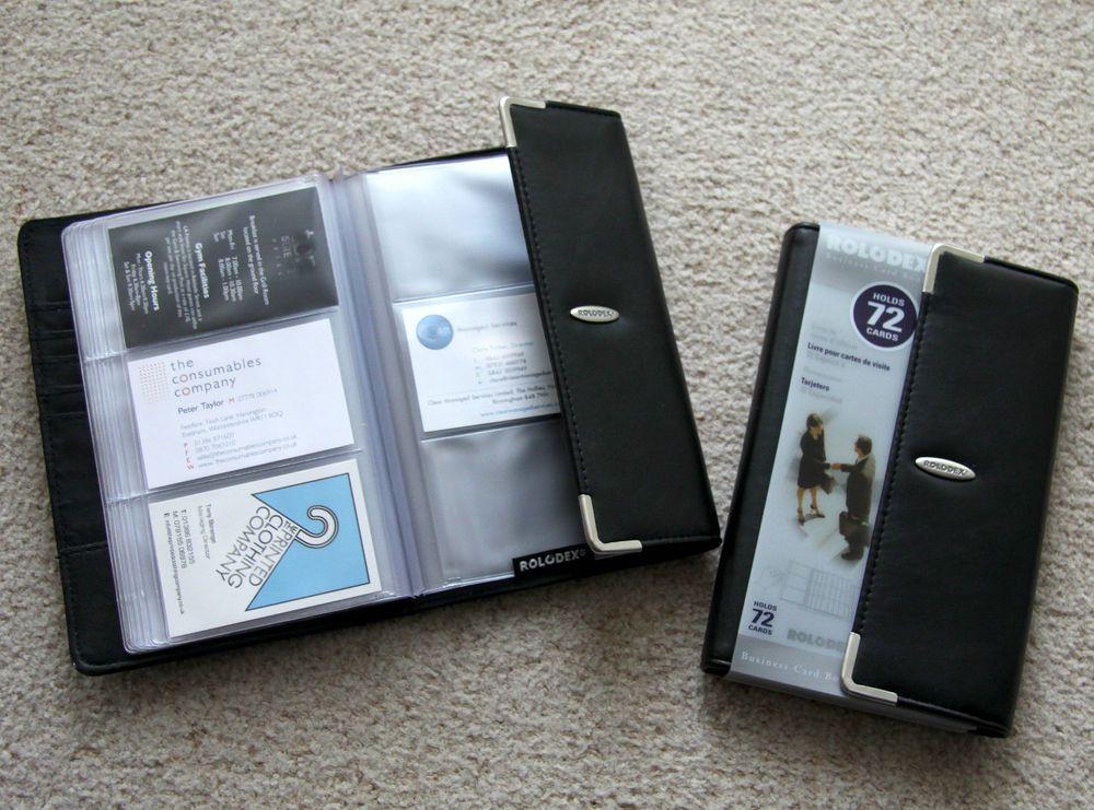 Rolodex Luxury Business Card Album Organiser Folder File Wallet Book 72 Cards Ebay Luxury Business Cards Rolodex Business Cards