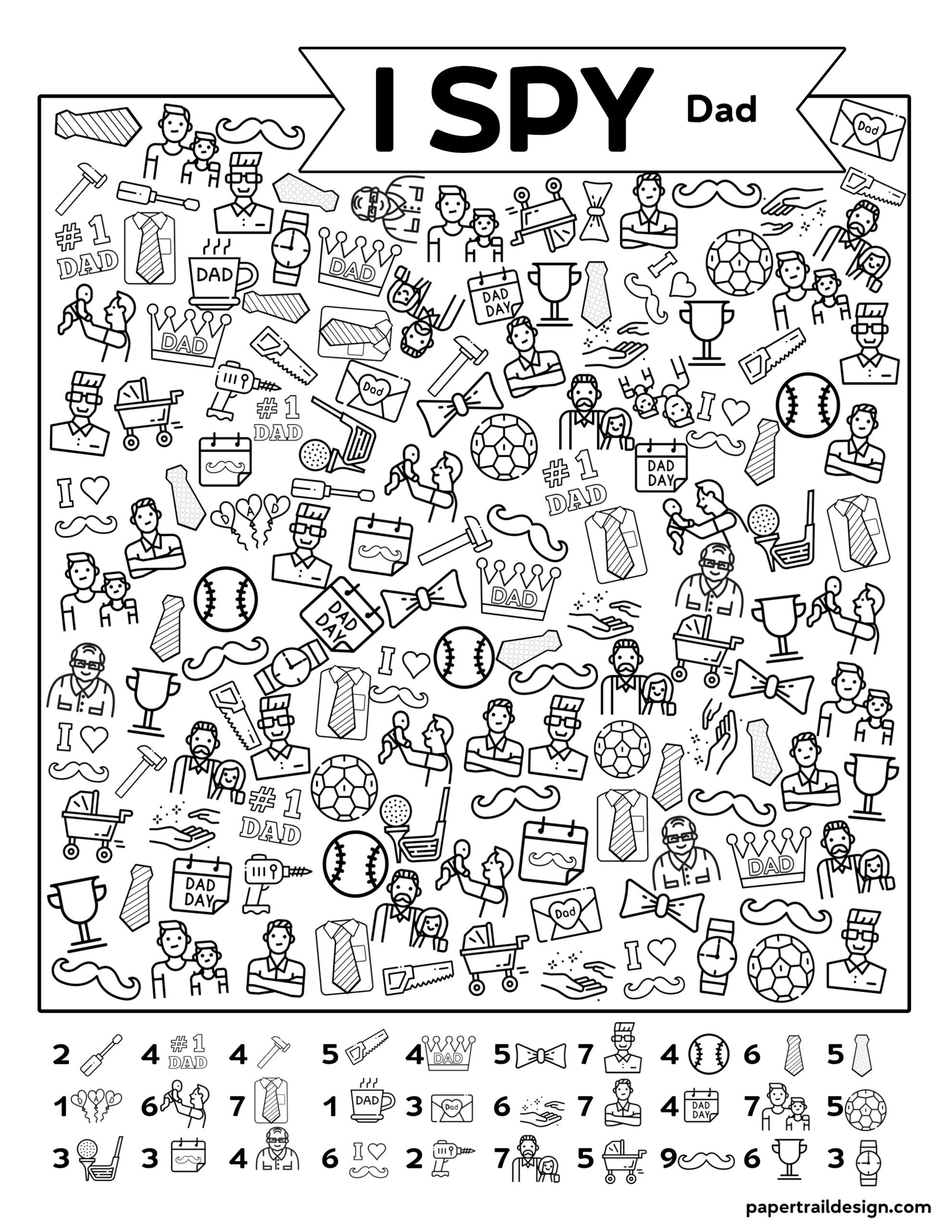 Free Printable I Spy Father's Day Activity | Paper Trail ...
