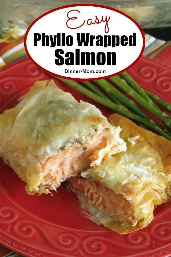 Salmon with pesto and cheese is the dinner entree everyone will talk about Tips for working with filo dough and making it aheadPhyllo Wrapped Salmon with pesto and cheese...