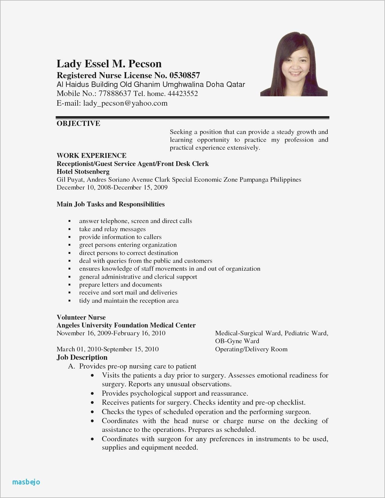 Sample Resume Computer Technician Philippines Valid
