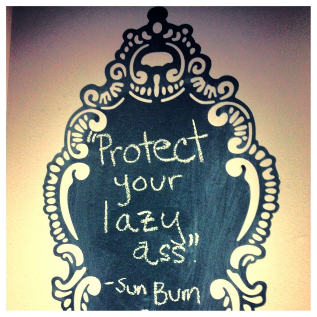 Great sunscreen slogan. #trustthebum #spf10000000 #paleisthenewtan #keepingphillypretty