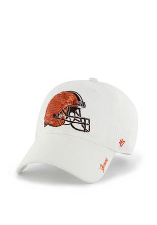 890dd750ce4a34 47 Cleveland Browns Womens White Sparkle Adjustable Hat | NFL ...
