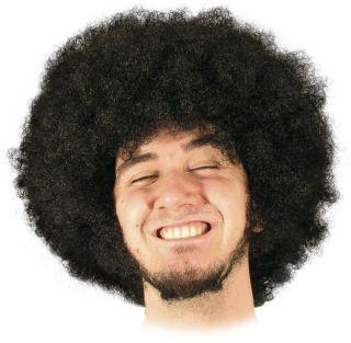 white man afro