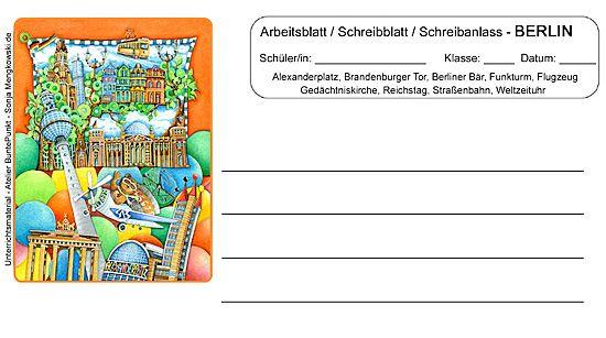 Arbeitsblatt #BERLIN – Schreibblatt – Schreibanlass | Deutsch ...
