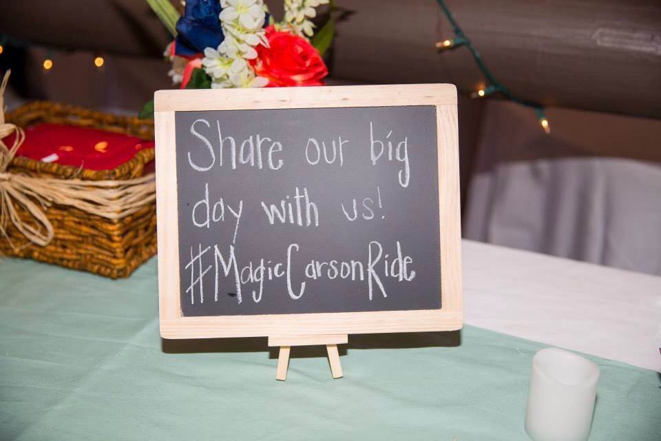 Disney themed wedding hashtag magic carson ride pinterest wedding