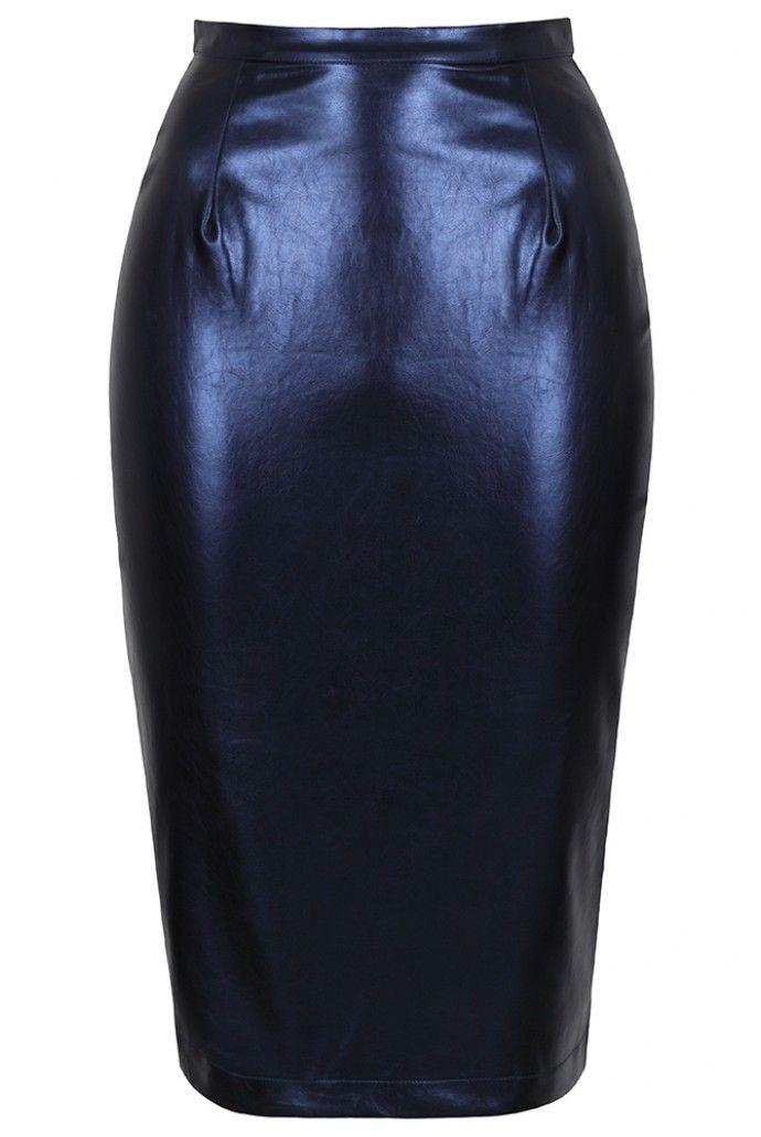 Louche Larue Leather Pencil Skirt