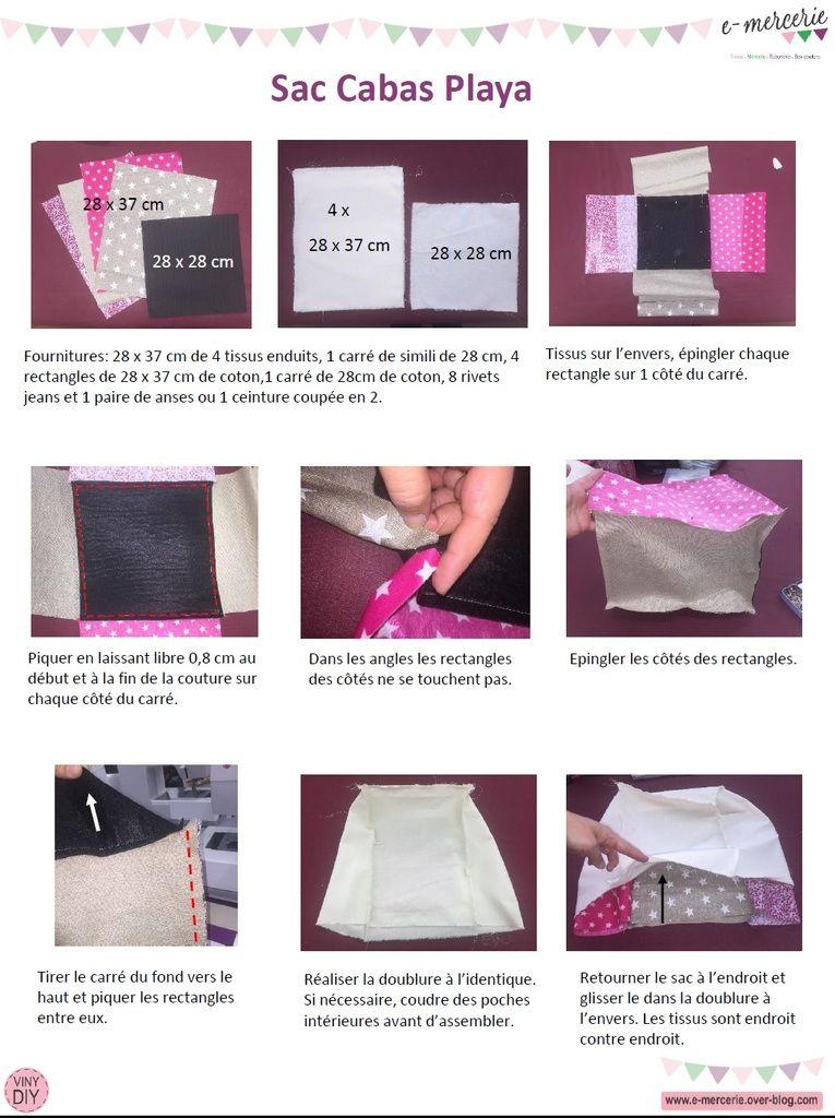 sac cabas playa   couture   Pinterest   Las bolsas de asas, La bolsa ...