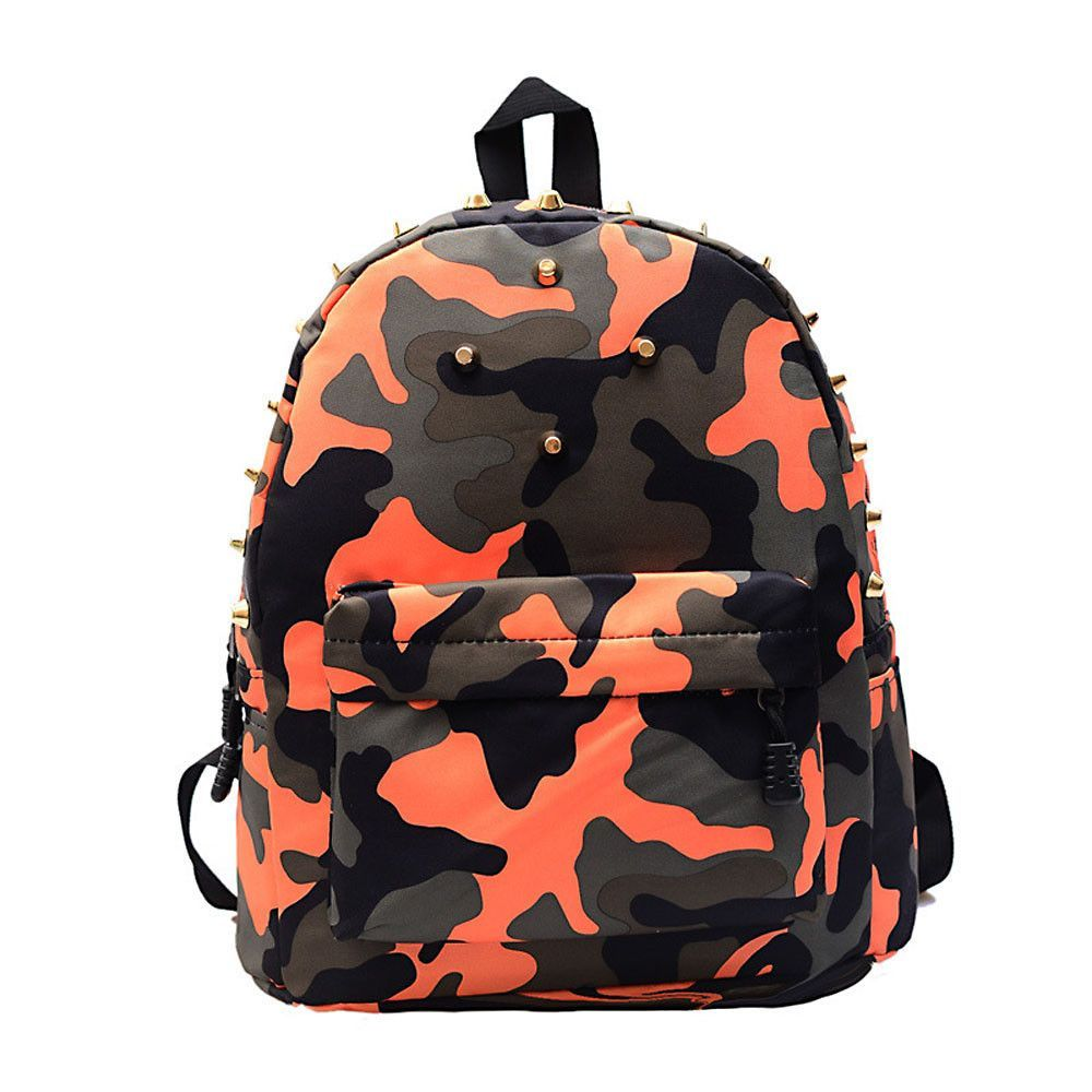 d80ea1328011 New brand 2015 Women girls School Bag Rivets Camouflage Backpack Cute Canvas