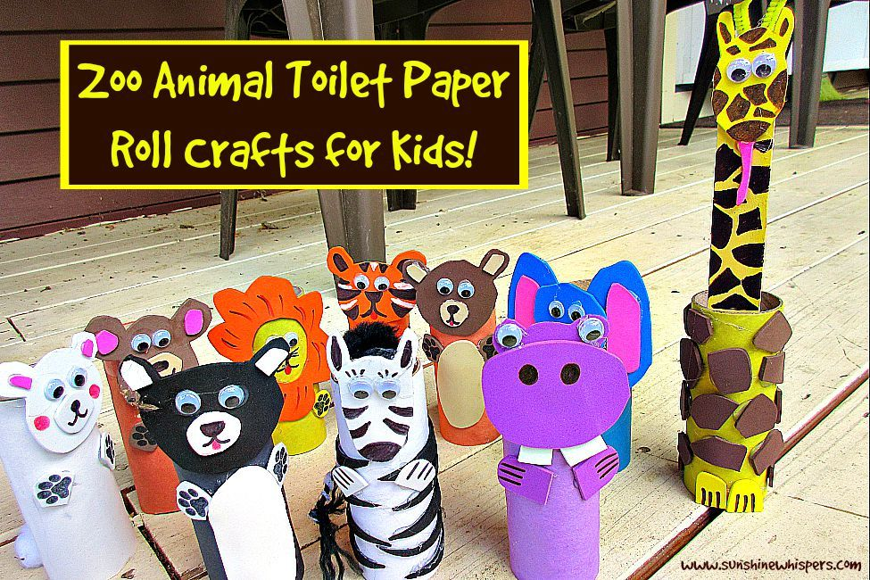 10 Adorable Zoo Animal Toilet Paper Roll Crafts For Kids Toilet Paper Roll Crafts Paper Roll Crafts Animal Crafts For Kids