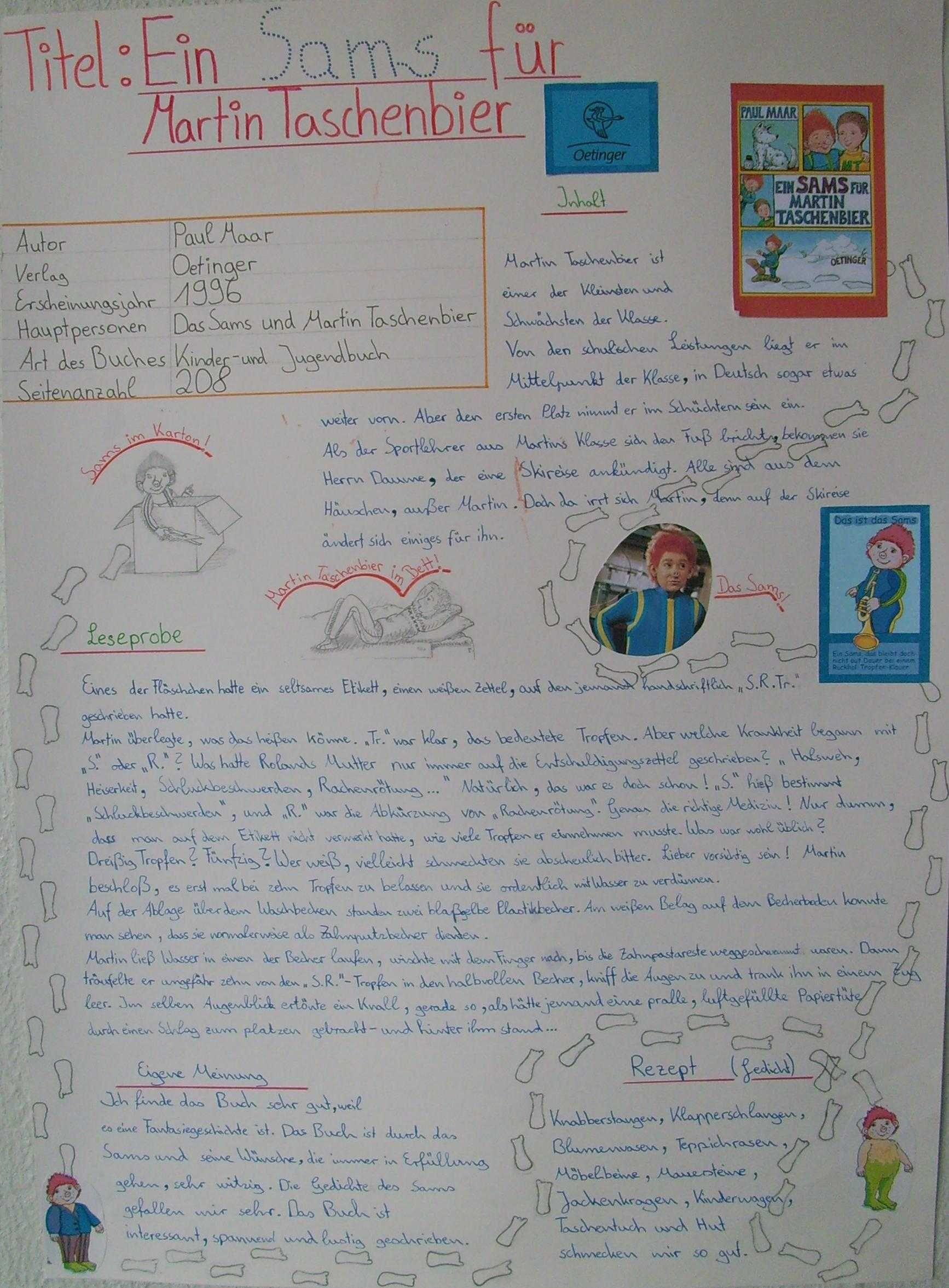 Buchvorstellung Beispiel 8 Sams Bucher Buchvorstellung Deutsch Lesen