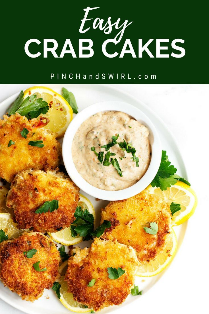 Photo of Easy Crab Cake Recipe – Pinch and Swirl
