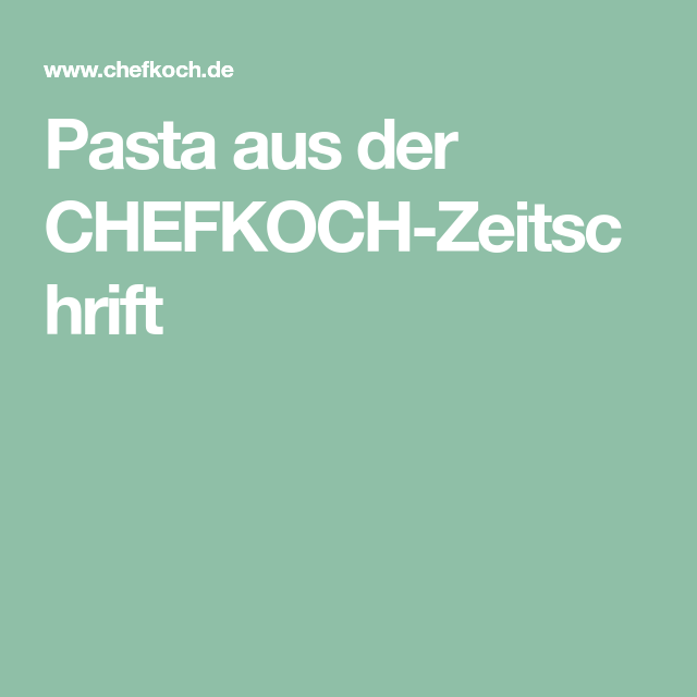 Chefkoch Zeitschrift