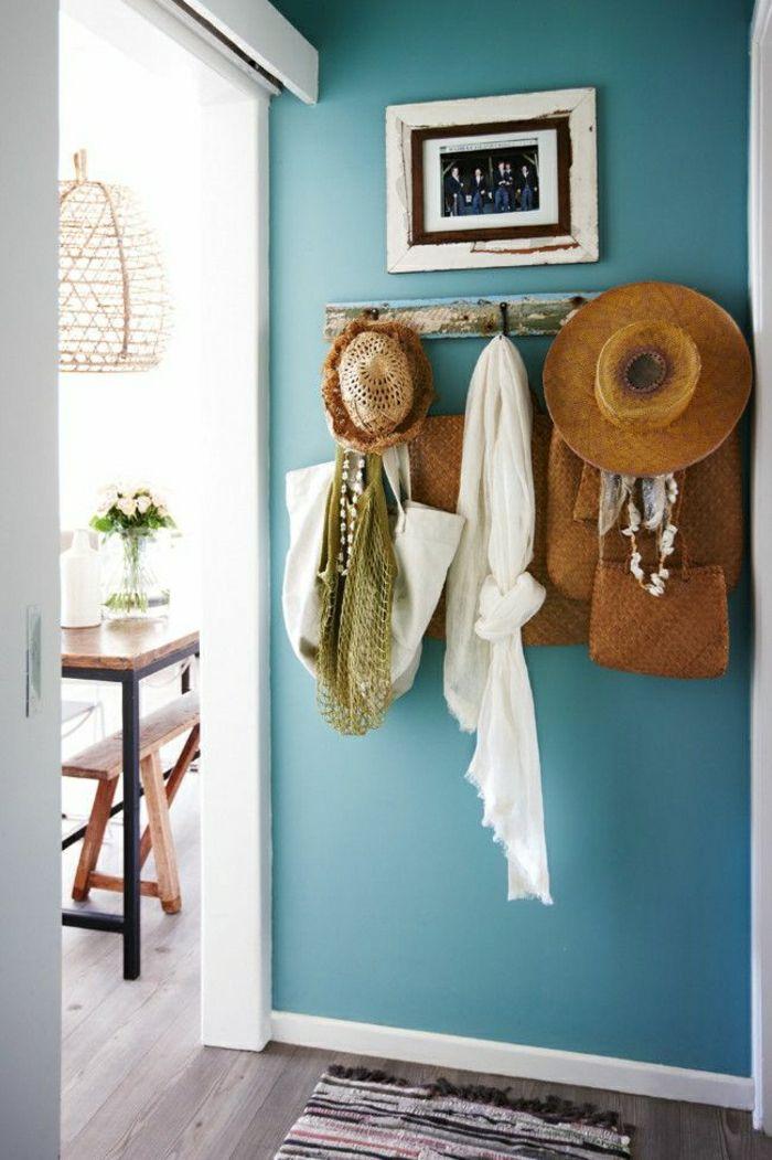 Plonger dans la couleur turquoise et colorer la maison for Couleur pour entree maison