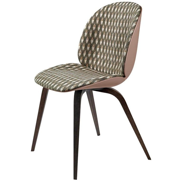 Beetle Dining Chair Front Upholstered Smoked Oak In 2020 Fabric Dining Room Chairs Dining Room Chairs Modern Dining Chairs