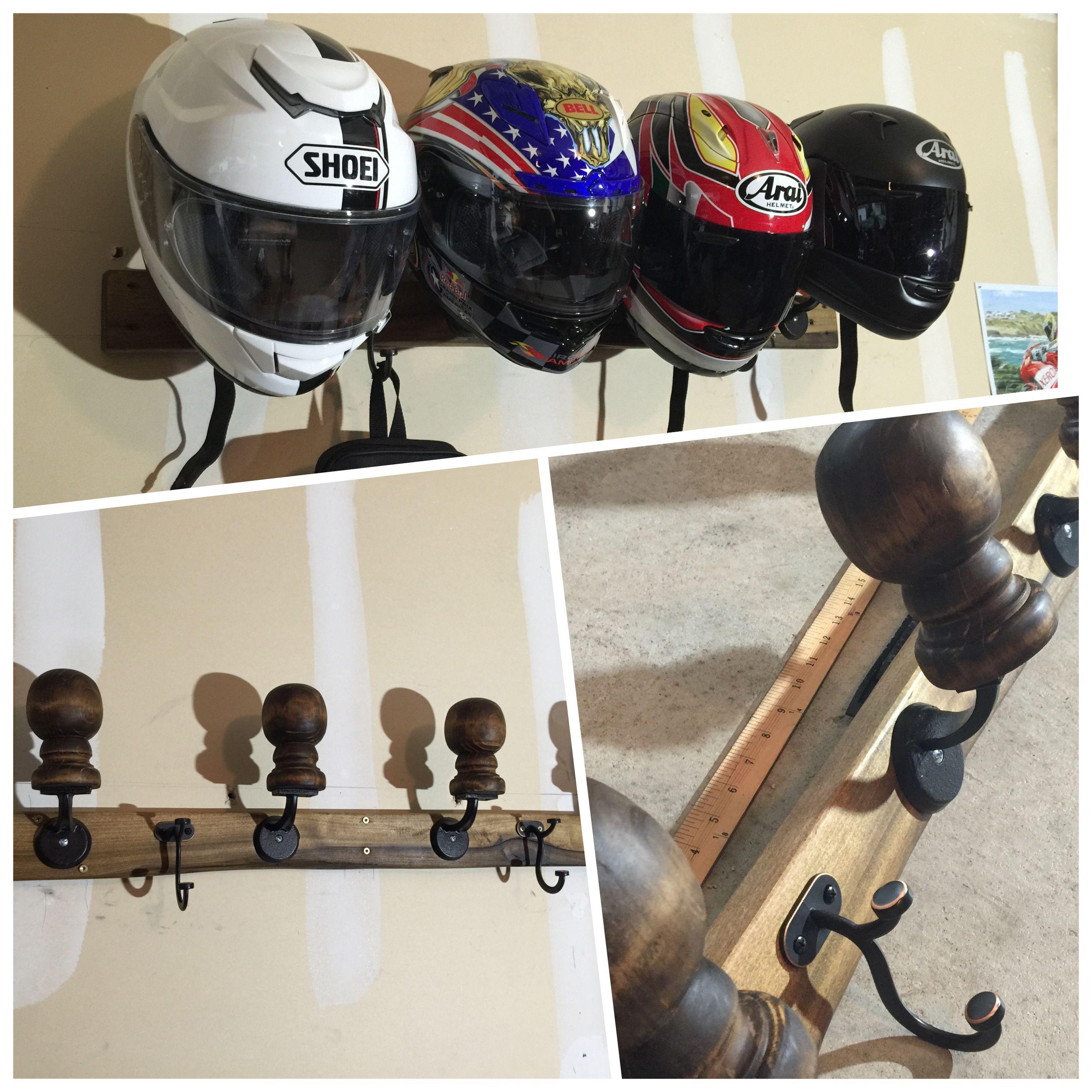 Homemade Motorcycle Helmet Rack Organizers Gear