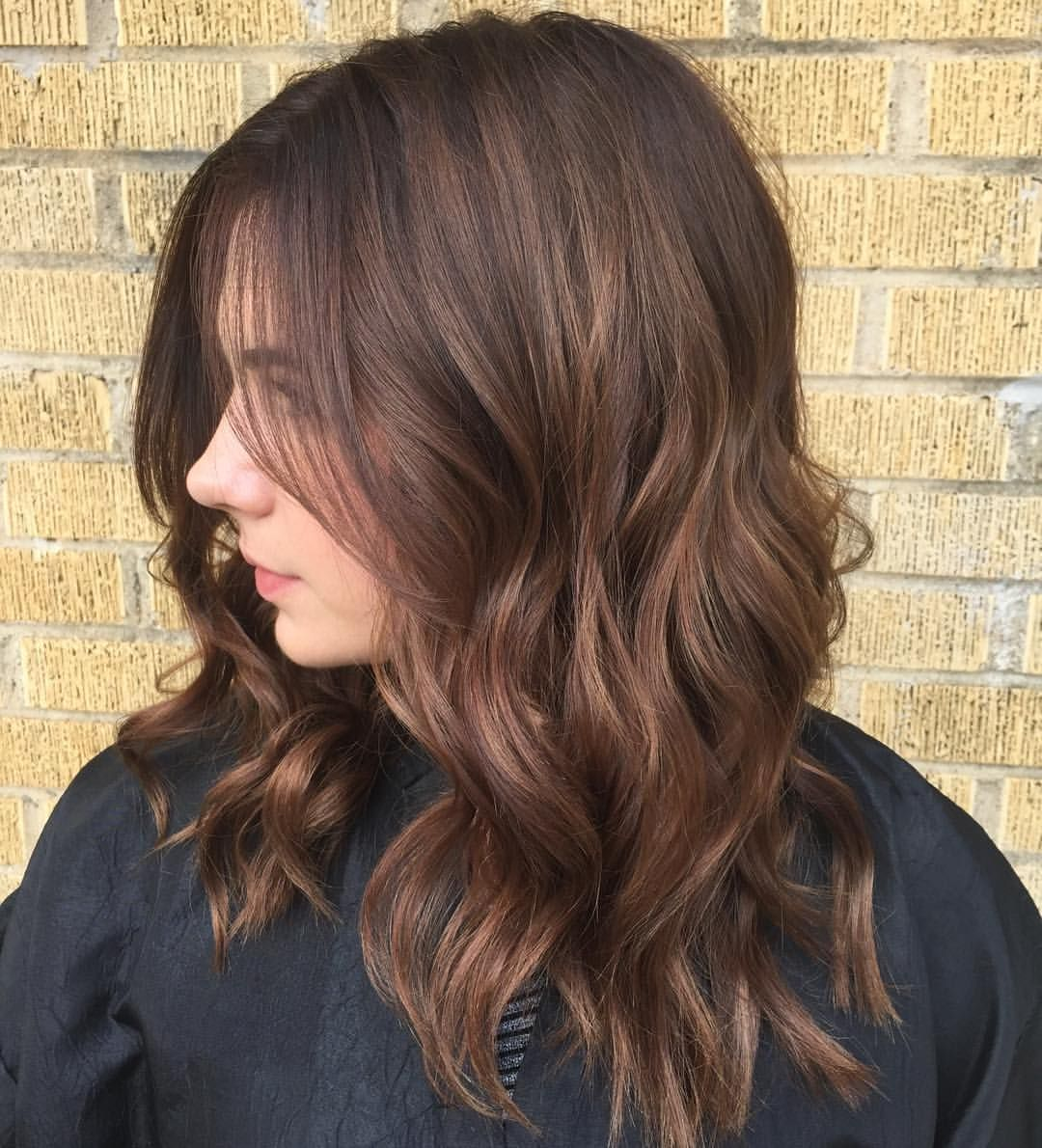 Subtle Blended Balyage With A Coffee Bean Espresso Stretched Root