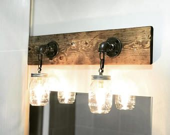 Rustic industrial modern mason jar lights vanity light wall rustic industrial modern mason jar lights vanity light wall light rustic aloadofball Image collections