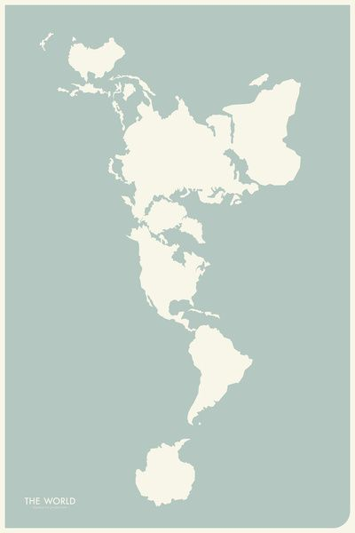 If the world were flat a vertical map of the world ink if the world were flat a vertical map of the world gumiabroncs Images