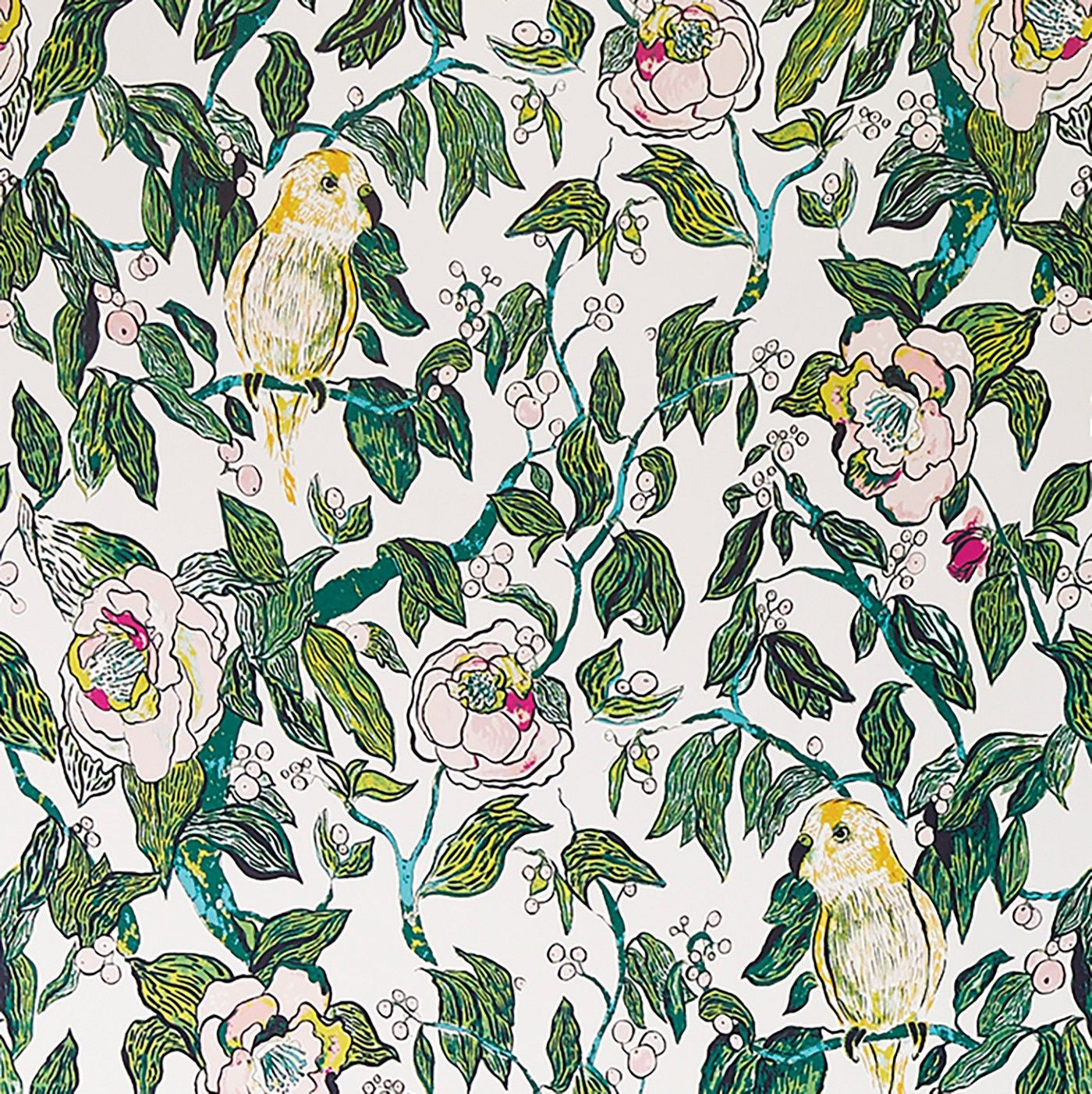 Canary Floral Peel Stick Removable Wallpaper Opalhouse