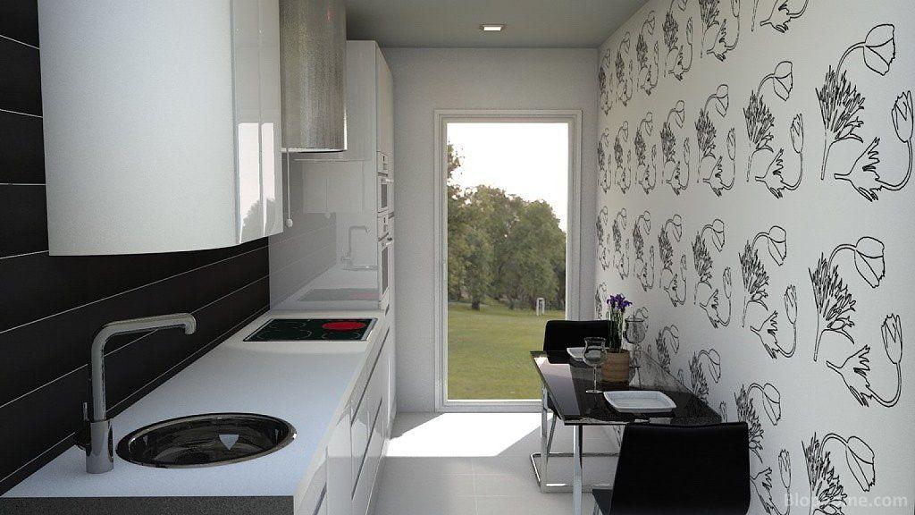 Dise o de cocinas alargadas y estrechas b squeda de for Casas estrechas y alargadas