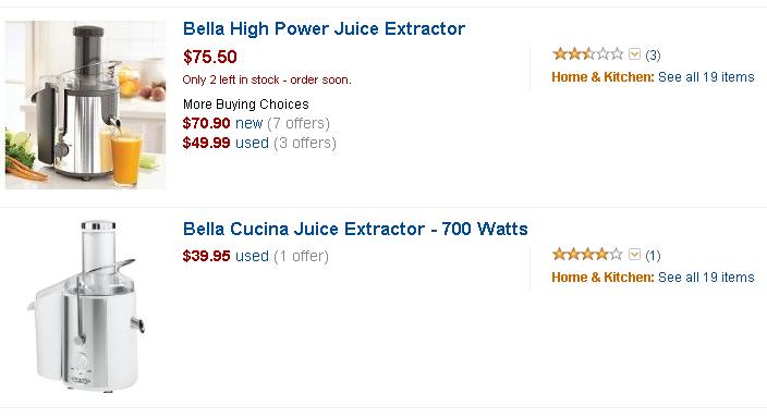 plastic manual orange juicer