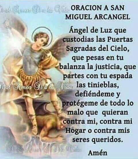 San Miguel Arcángel Oraciones Religiosas Oración Milagrosa Oraciones Poderosas