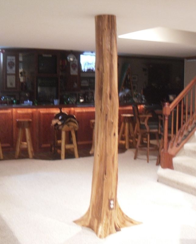 Basement Flooring Upgrade In Linden Ab: Authentic Cedar Log Basement Pole Covers Support Post Wrap Rustic Lodge Tree New
