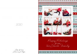 5x7 Inch Christmas Card Total Size Is 10x7 Folded Size Is 5x7 Includes 1 Box 4 Box And 9 Box Laye Box Design Templates Card Templates Greeting Card Template