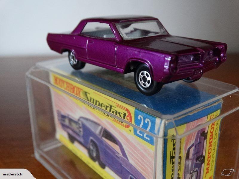 VERY RARE MINT 1970 Matchbox Superfast MB22 Pontiac GP