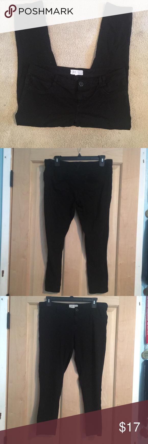 e63fa6c54dc2b Jolt jeggins super comfy cropped black jolt jeggings no zipper - has a  button fits wider in the hips Pants Ankle & Cropped