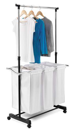 Triple Sorter Laundry Center At Menards 50 For The Basement Laundry Center Laundry Center Hanging Bar Laundry