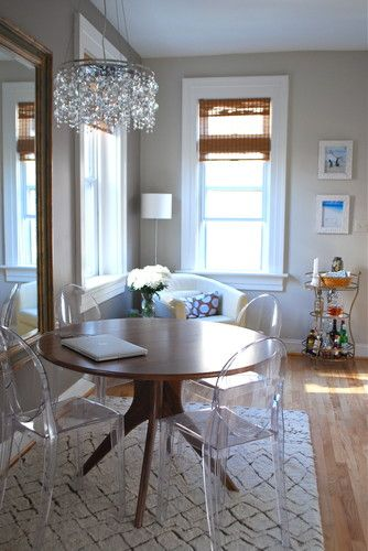 Clear chairs for breakfast room