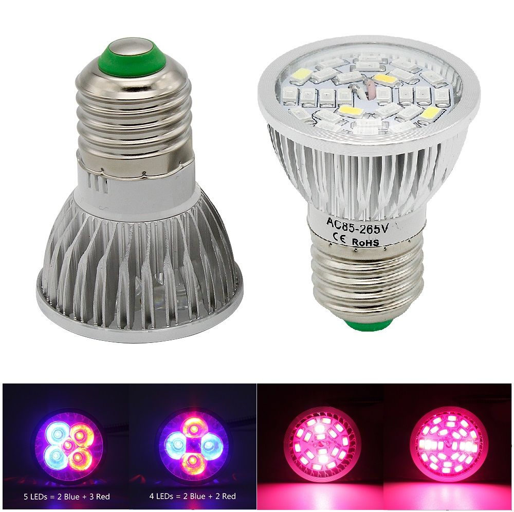1pcs Full Spectrum Grow Lights E27 12w 15w 18w 25w Ac85 265v Led Plant Grow Lamps For Greenhouse Hydroponic System Pl Grow Lamps Grow Lights Hydroponics System