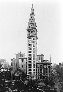 Skyscraper New York City 1909 The Metropolitan Life Insurance