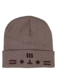 e53c6c14396 PUSHEEN Pusheen The Cat Face Fold Beanie in 2019