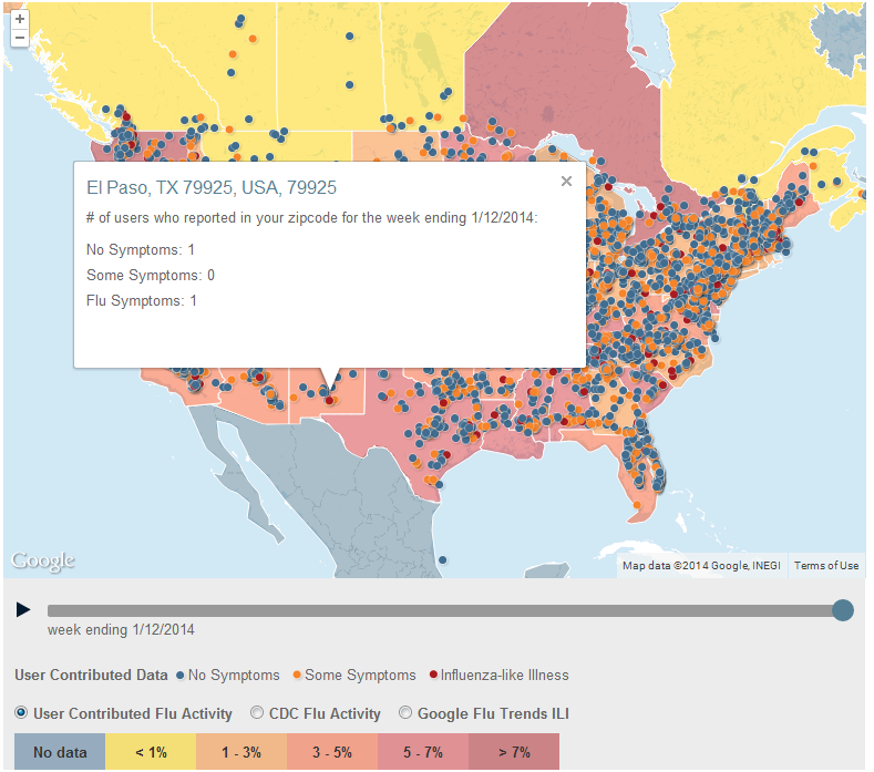 Interactive Map: Flu Near You | Custom Google Maps ... on dengue fever map, h1n1 map, spanish influenza map, autism map, influenza a map, influenza outbreak map, diabetes map, adhd map, virus map, pandemic map, hiv/aids map, strep throat map, depression map, fluview map, pain map, infection map, stroke map, multiple sclerosis map, canine influenza map, epilepsy map,