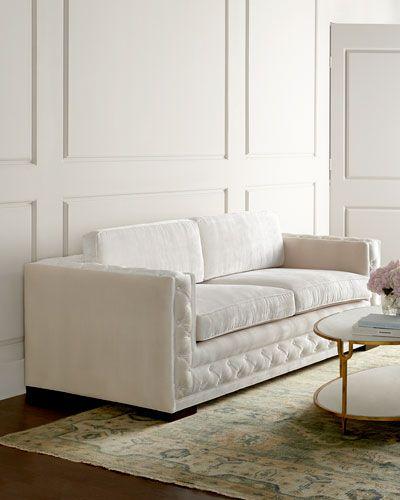 Candice Olson Living Room Furniture: Candice Olson Pepper Tufted Sofa