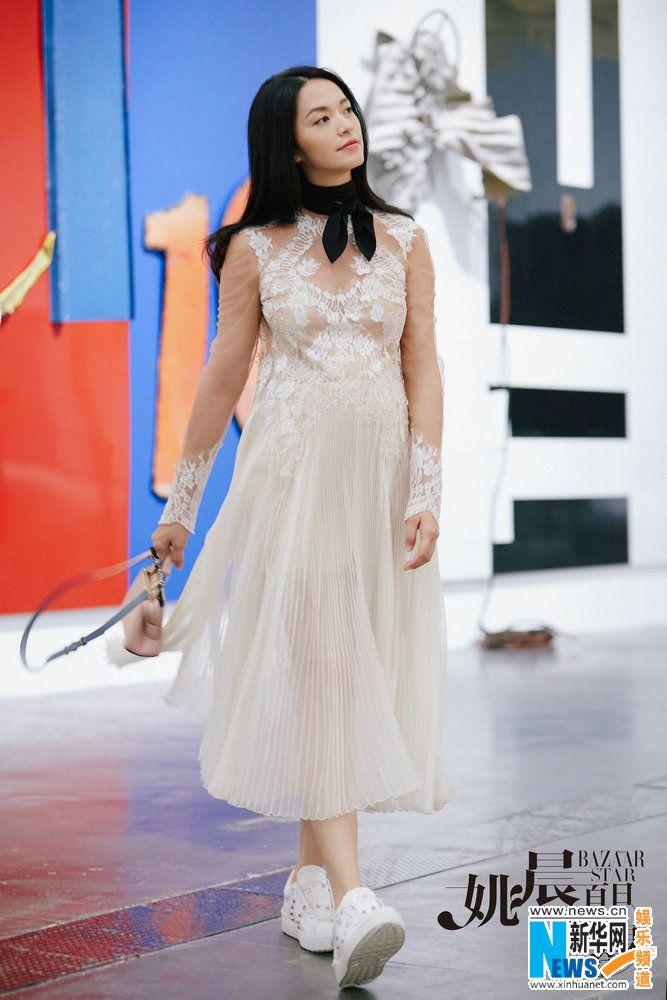 Actress Yao Chen  http://www.chinaentertainmentnews.com/2016/08/actress-yao-chen-releases-fashion-photos.html