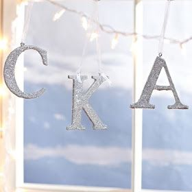 Charmingly Styled: DIY - Glitter Holiday Letters