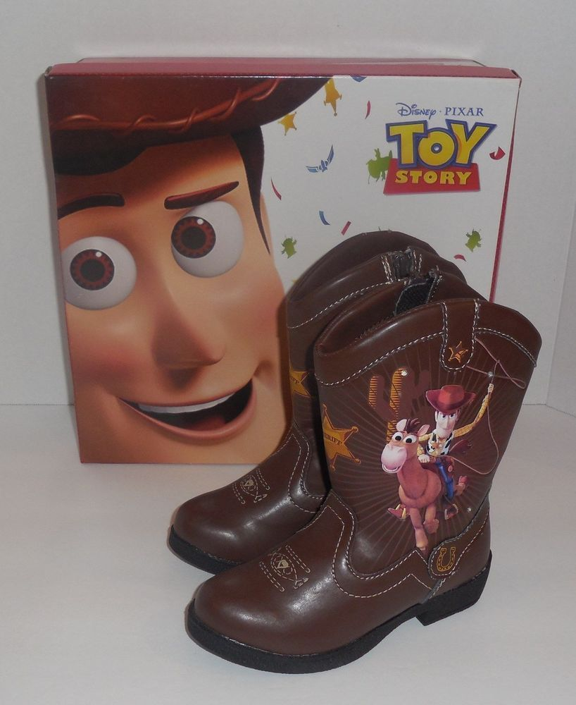 428de77fc262 DISNEY TOY STORY TODDLER BOYS LIGHT UP WESTERN BOOTS BROWN SIZE 7 8 9 NEW   Disney  Boots