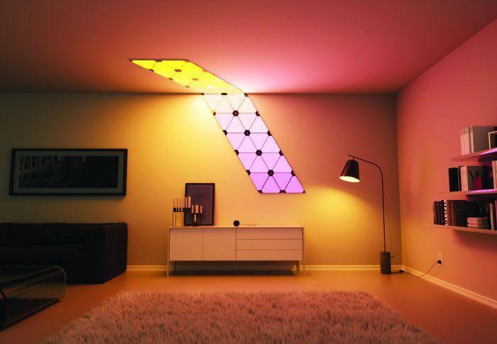 Nanoleaf aurora smart lighting panels unleash creativity in any room