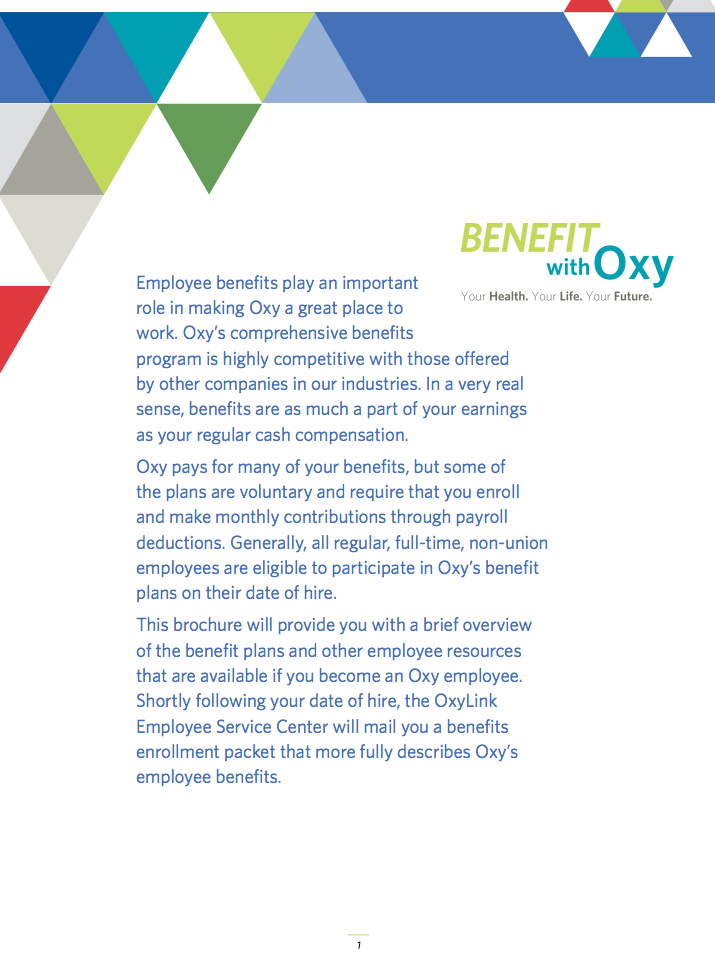 employee benefit program brochure
