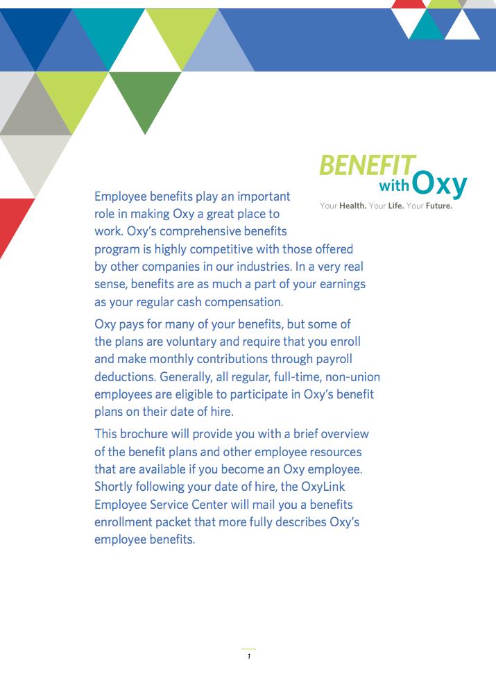 Employee Benefit Program Brochure Employee Benefits