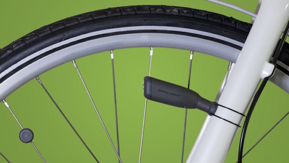 スポークにつけた磁石で発電するナイスアイデアな自転車用ライト Cio Roomie ルーミー 自転車用ライト 自転車 ライト 磁石