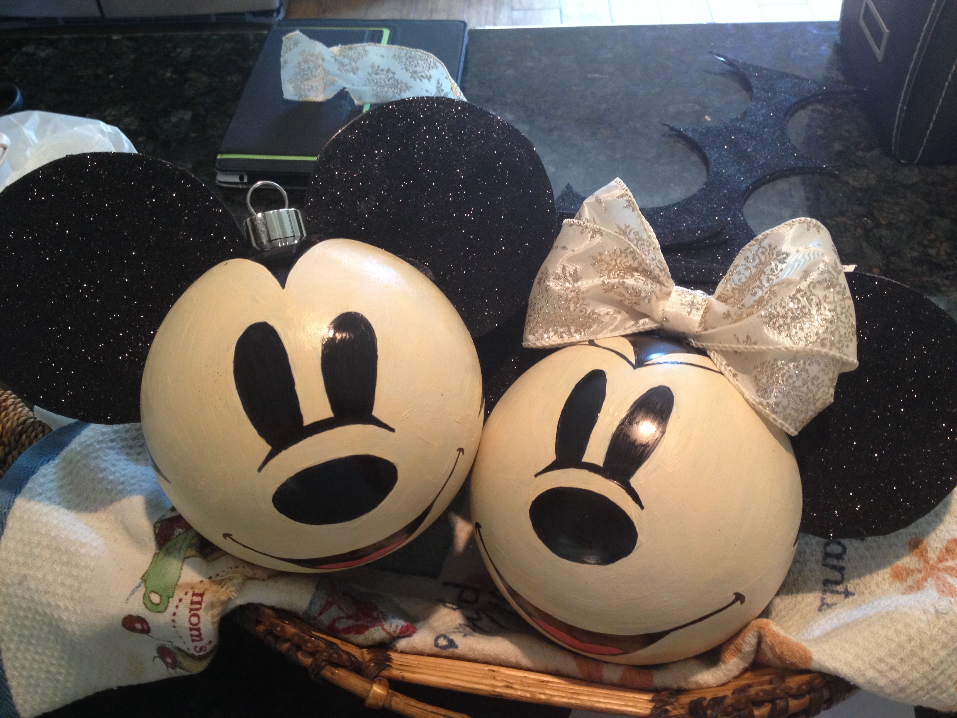 Mickey Mouse Ornaments With A