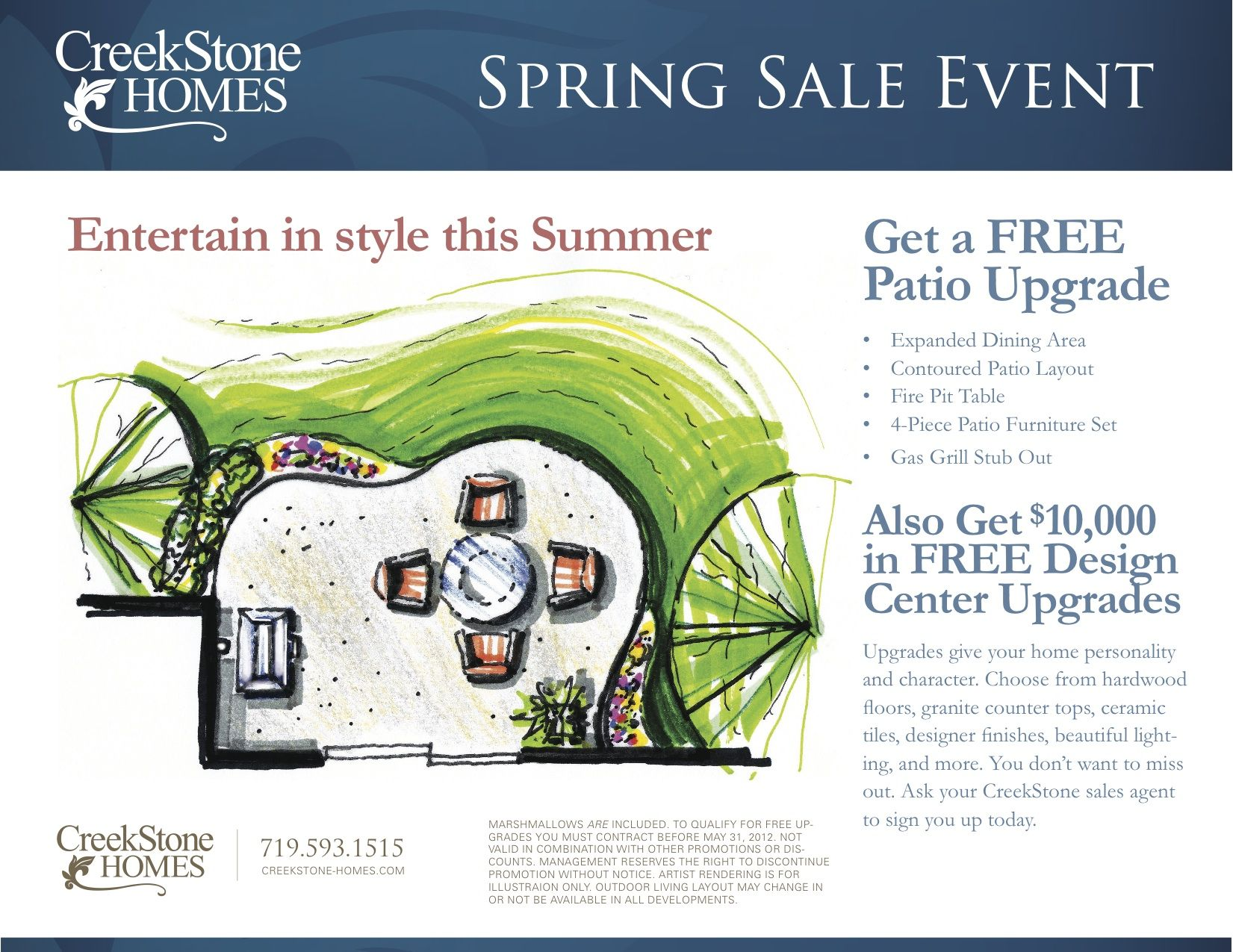 Local Colorado Springs Home Builder Offering A Springs Sales Event!  Celebrate The Coming Of Spring