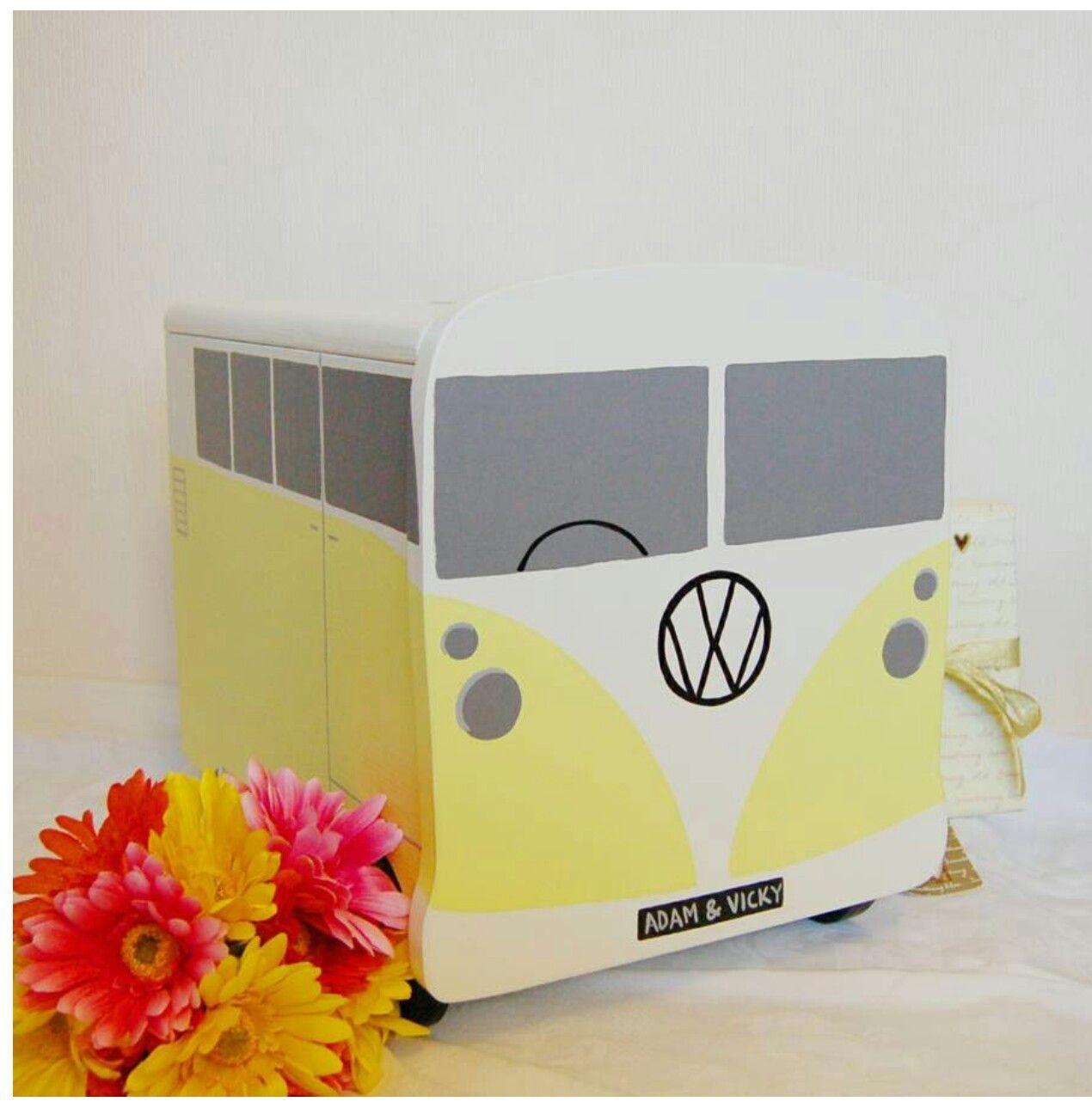 Wedding post box decorations  Camper van wedding post box  Wedding Speech Help  Pinterest