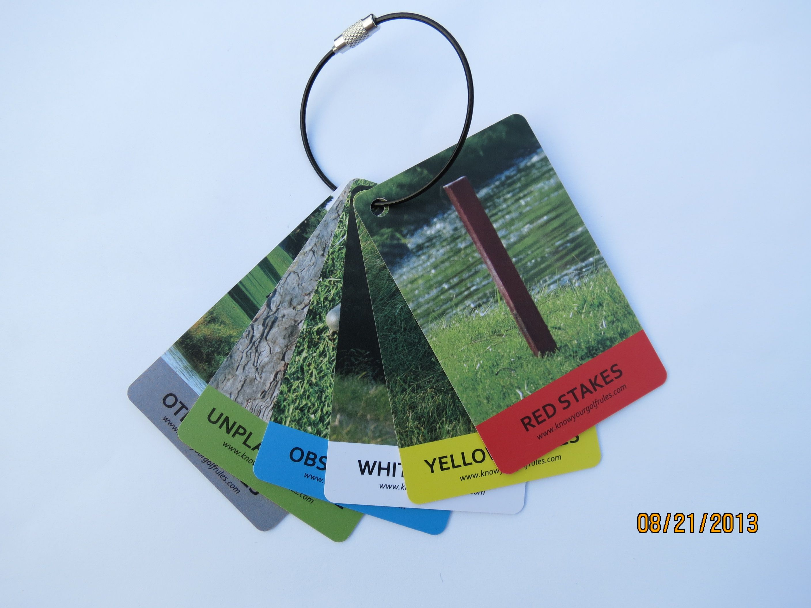 Golf Rule Tag set. Attaches to your golf bag! Golf's most ...